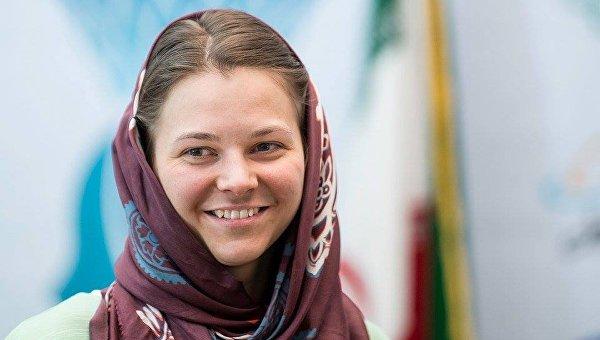 Анна Музычук на ЧМ по шахматам в Тегеране