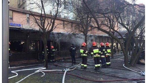 Вцентре Львова сгорел ресторан
