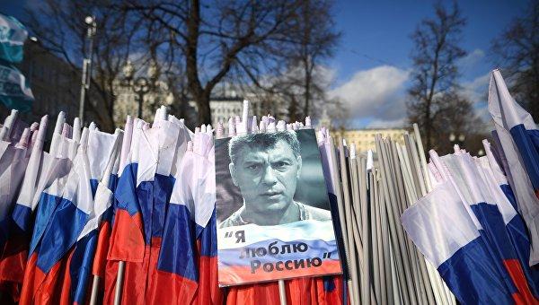 Касьянова облили зеленкой намарше памяти Немцова в российской столице