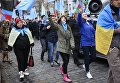 Марш солидарности с крымскотатарским народом в Киеве