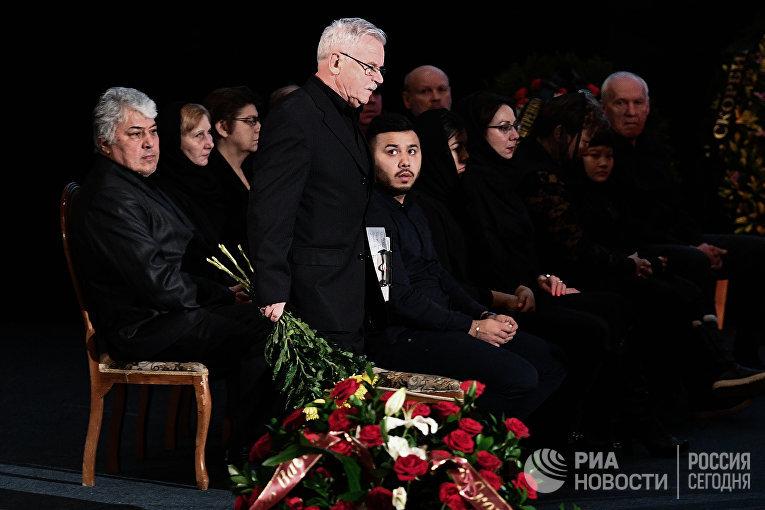 Прощание с актером Алексеем Петренко в Доме кино