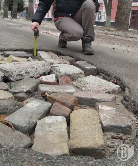 Ямы на дорогах в Чернигове