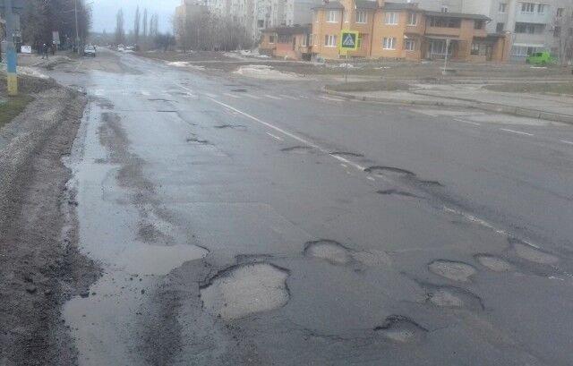 Ямы на дорогах в Южноукраинске