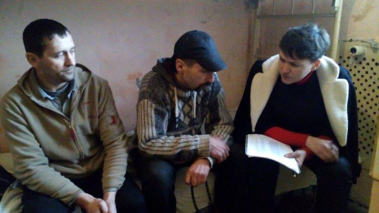 Надежда Савченко в колонии в Макеевке