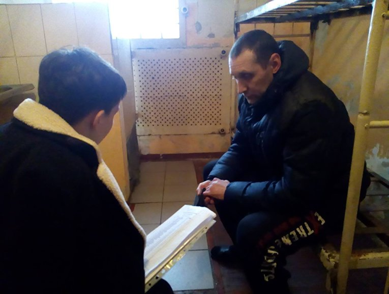 Надежда Савченко в Макеевской колонии