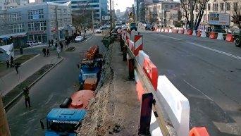Ситуация в районе Шулявского моста после обрушения