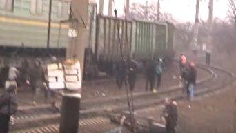 Столкновения на редуте торговой блокады в Кривом Торце. Видео