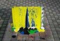 Вандалы повредили памятник участникам спецоперации в Донбассе в Киеве