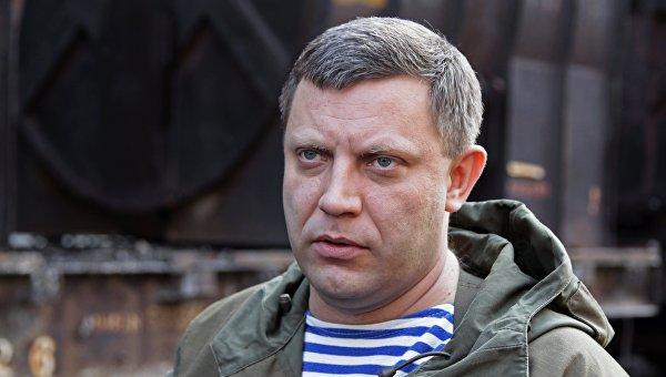 Глава самопровозглашенной Донецкой народной республики Александр Захарченко во время посещения Юзовского металлургического завода в Донецке