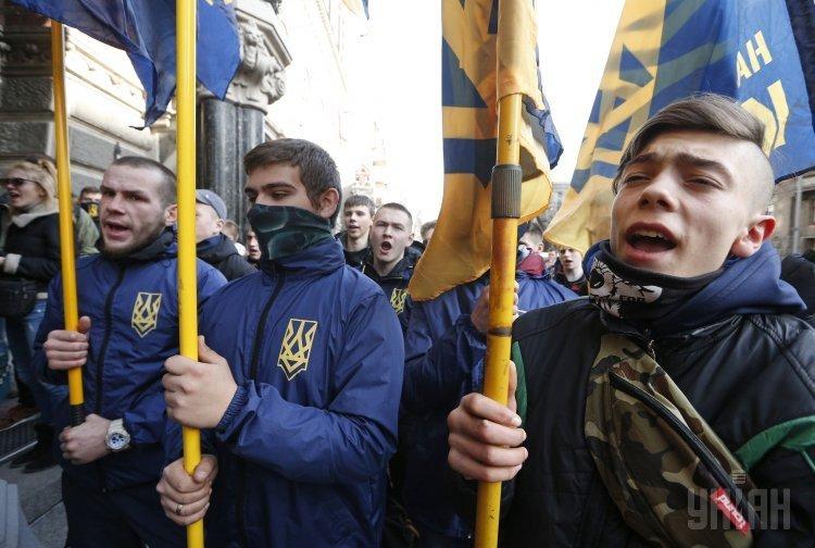 Акция Стоп российским банкам у НБУ в Киеве