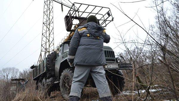 Авдеевка в итоге обстрелов осталась без электричества— ГСЧС