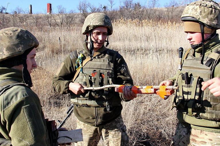 Работа военных инженеров в зоне АТО