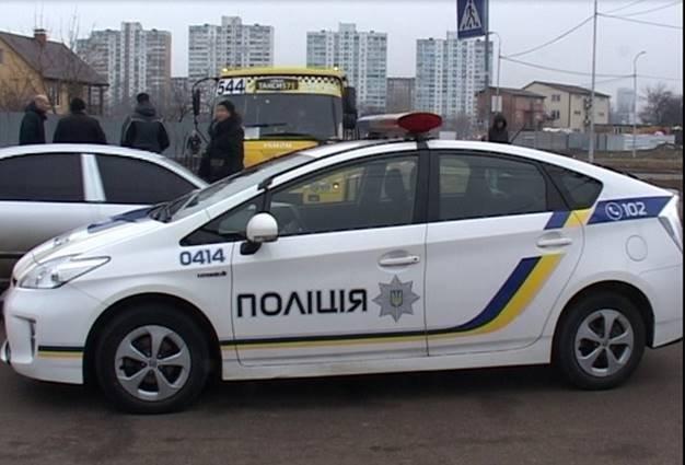 Полицейское авто на месте ЧП