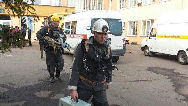 Взрыв на шахте. Архивное фото