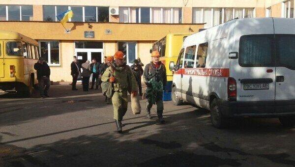 Авария на шахте Степная во Львовской области