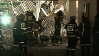 Обвал крыши в госпитале ЮАР. Видео