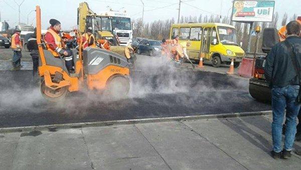 Ремонт Одесского путепровода в Киеве