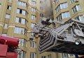 Под Киевом в результате пожара в жилом доме эвакуировали 70 человек
