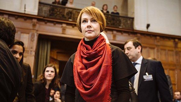 Заместитель министра иностранных дел Елена Зеркаль в Гааге. Архивное фото