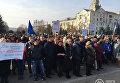 Митинг против торговой блокады Донбасса прошел в Краматорске