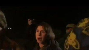 Татьяна Черновол против участников блокады