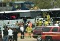 Столкновение поезда и автобуса в американском штате Миссисипи