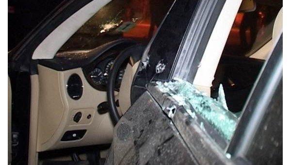 Убийство бизнесмена в Киеве. Кадры с места преступления