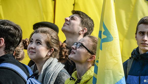 Граждане Украины. Архивное фото