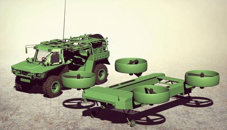 Украинские дизайнеры разработали концепт летающей бронемашины