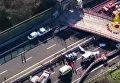 Обрушение моста в Италии. Видео