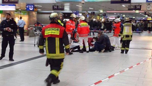 Нападение мужчины с топором на вокзале в Дюссельдорфе