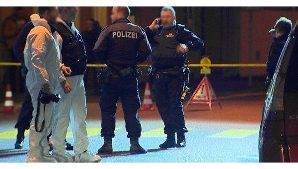 Полиция на месте стрельбы в бельгийском Базеле