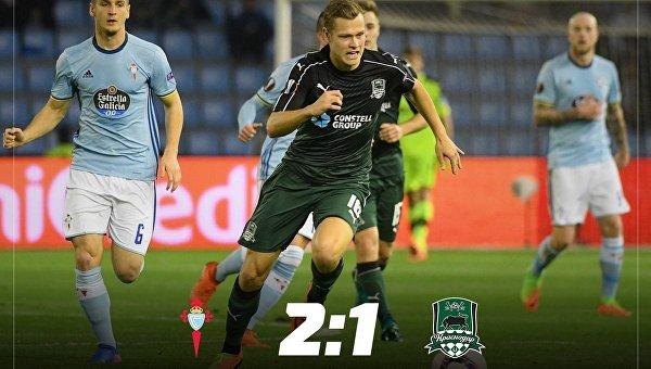 Матч 1/8 Лиги Европы Сельта - Краснодар