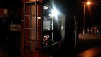 Пожар в Киеве на Троещине. Видео
