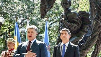 Петр Порошенко принял участие в официальном открытии памятника Тараса Шевченко в Софии