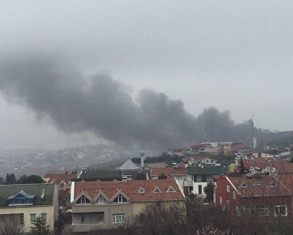 Крушение  вертолета в пригороде Стамбула