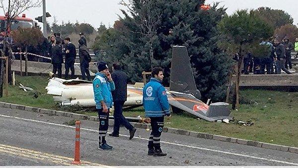 Крушение пожарного вертолета в Стамбуле