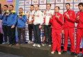 Награждение победителей чемпионата Европы по стрельбе из пневматического пистолета с дистанции 10 м