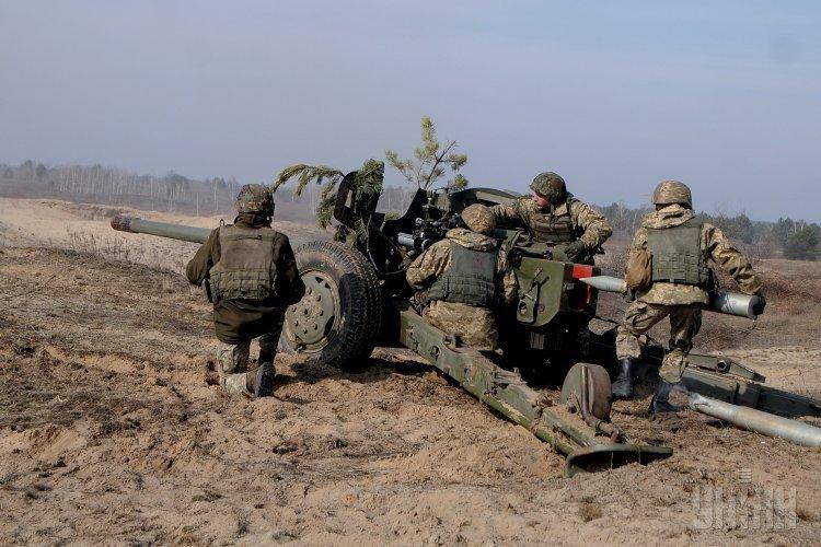 Военнослужащие 59-й мотопехотной бригады ВСУ во время учений в Киевской области