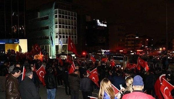 Демонстрация турков в Роттердаме