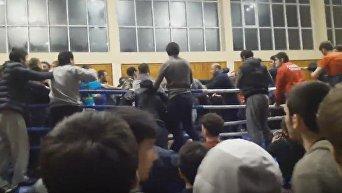 В Дагестане на открытом чемпионате по смешанным единоборствам произошла массовая драка