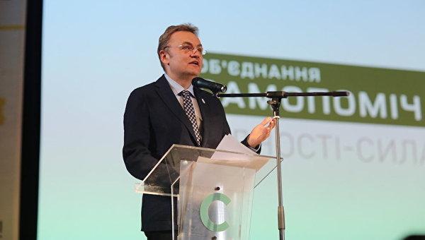 Председатель партии Объединение Самопомич Андрей Садовый
