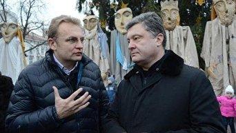 Петр Порошенко и Андрей Садовый