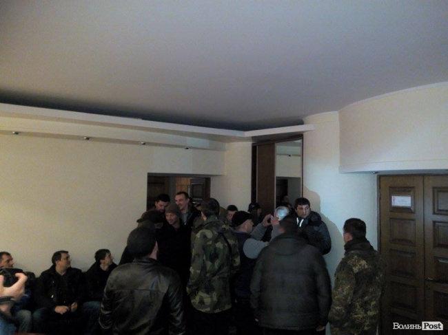 Активисты заняли помещение Волынской ОГА