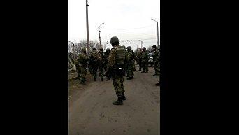 Задержание участников блокады в Донбассе. Видео