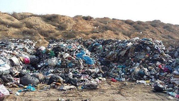 Львовский мусор в Овидиопольском районе Одесской области
