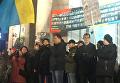 Участники Марша добровольцев на Майдане