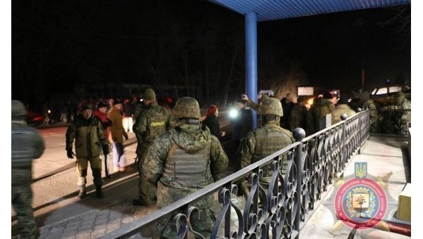 Ситуация на блокпосту под Славянском