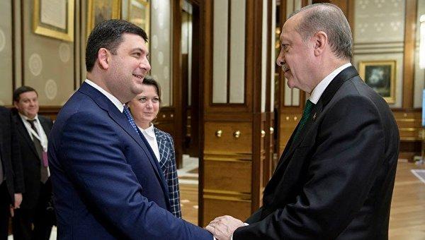 Владимир Гройсман и Тайип Эрдоган