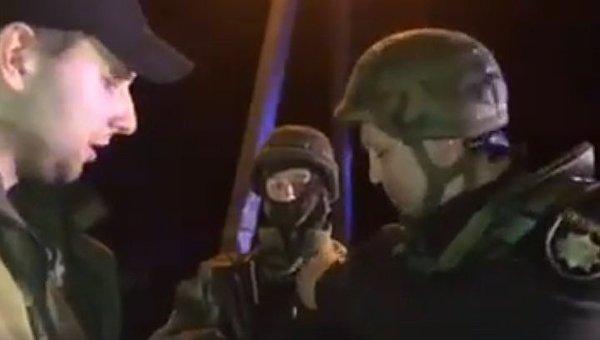 Владимир Парасюк на блокпосту близ Краматорска